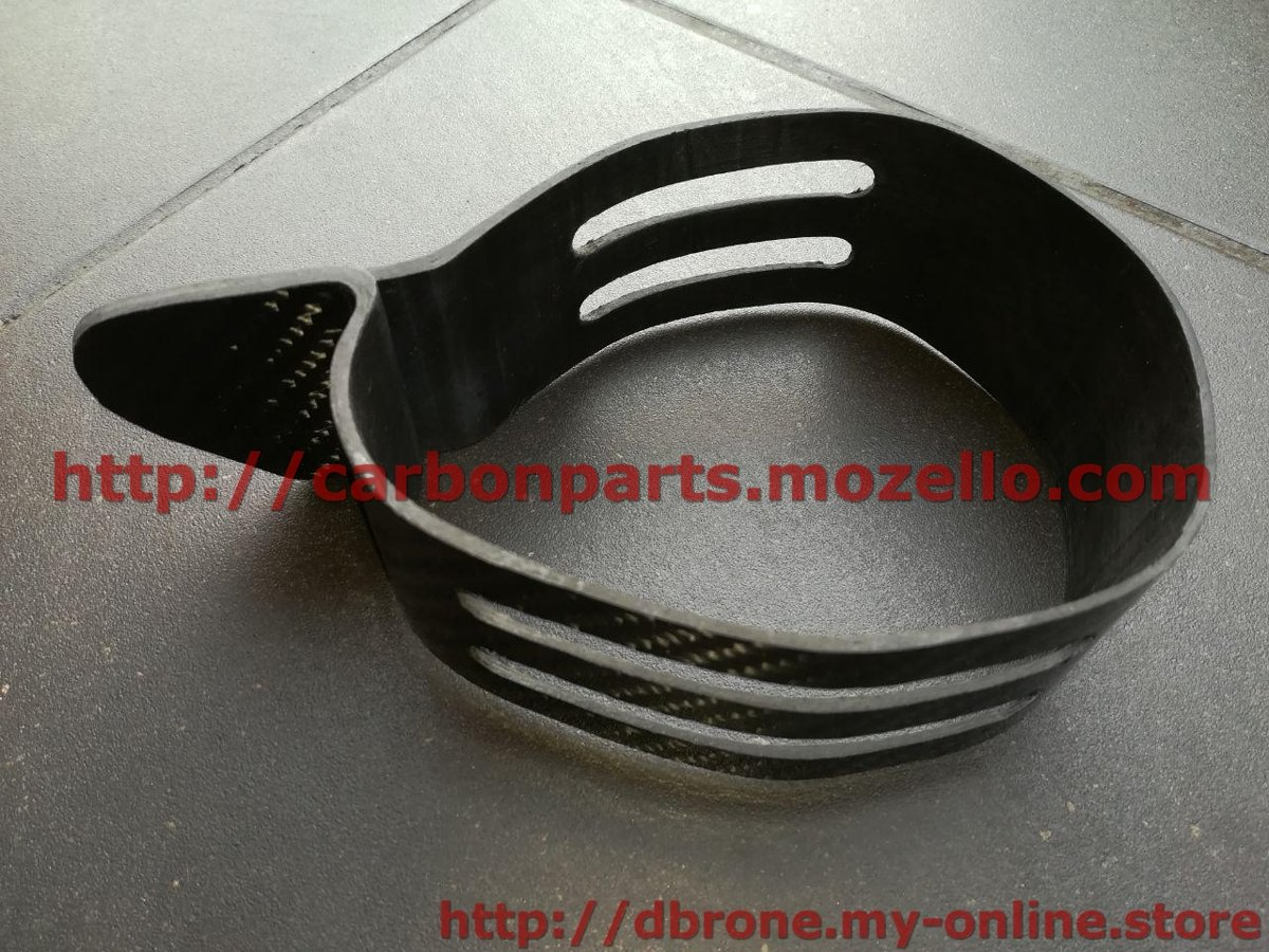 CARBON FIBER EXHAUST MUFFLER CLAMP AKRAPOVIC MODEL KTM 2T 4T SXF