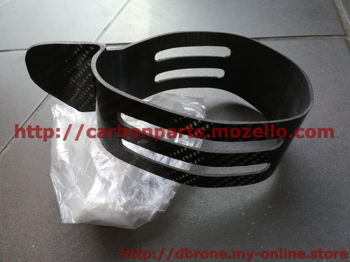 CARBON FIBER EXHAUST MUFFLER CLAMP AKRAPOVIC MODEL KTM 2T 4T SXF